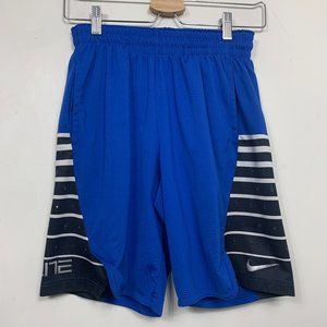Nike Elite Basketball Shorts Blue Black Striped Lo